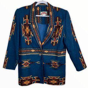 Vintage Oversized Southwestern Jacquard Jacket